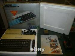 Atari 800XL Computer/Game Sytstem Consolein Original Box with Asteroids, Works