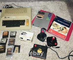 Atari 800 Computer With Original Power Supply Games Manuals and 3 controllers
