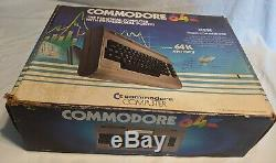 Commodore 64 Computer System Dust Cover Original Box Matching Serial Numbers