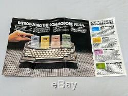 Commodore Plus/4 Computer Complete in Original Box 4 With Manual Powers Up NICE