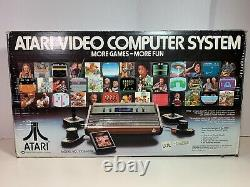 Original Atari 2600 Computer Video Game System Console Vintage With Box & 4 Games