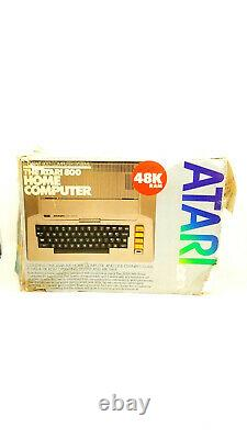 Vintage Atari Home Computer System 800 48K tested with Original Box Untested
