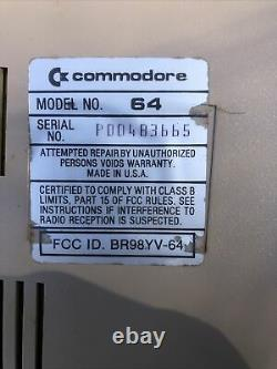 Vintage Commodore 64 Personal Computer For Parts Or Repair With Original Box