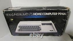 Vintage Texas Instruments TI 99/4a Home Computer System in Original Box